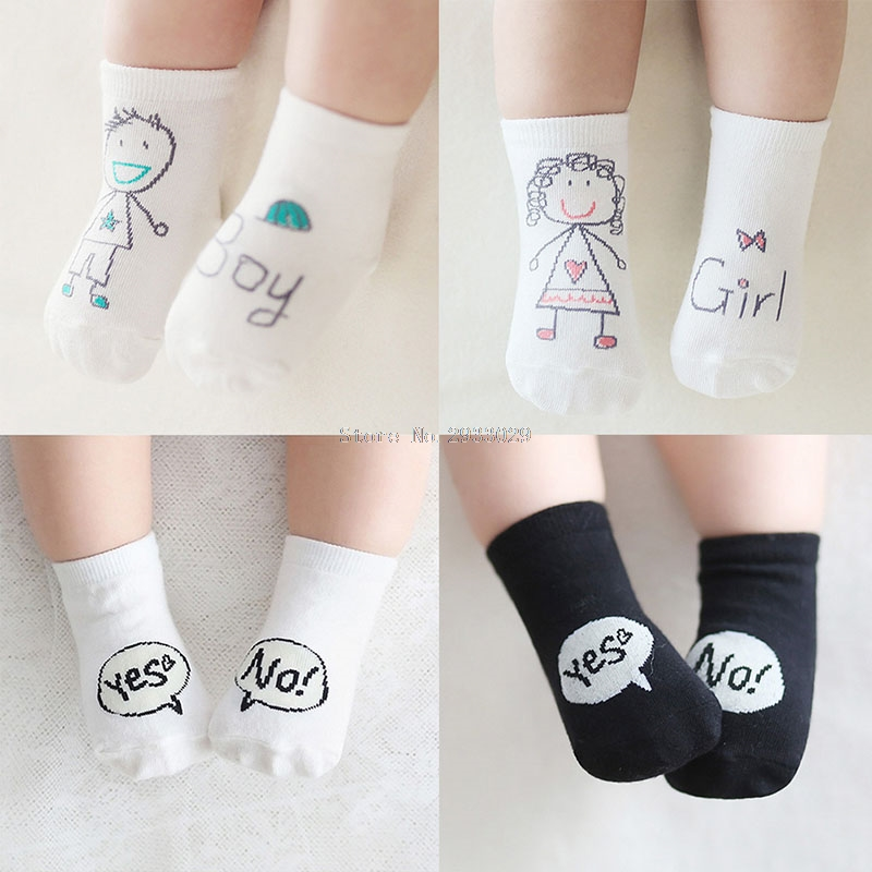 Cute Baby Socks Girl Boy Cartoon Cotton Socks Non slip Infant Toddler Socks 0 4Y B116