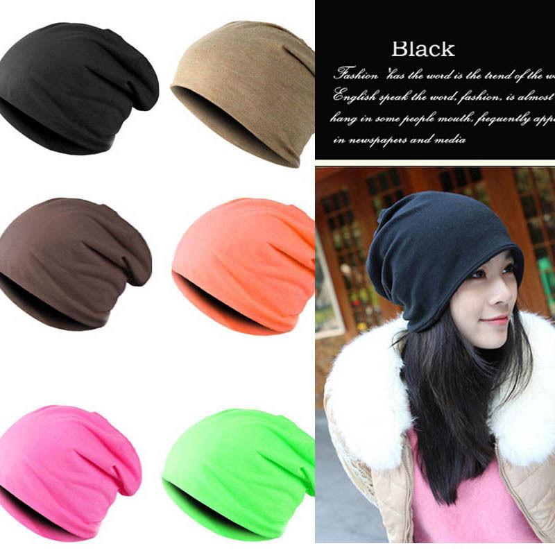 Fashion Unisex Men Women Knit Winter Spring Autumn Warm Crochet Slouch Hat Beanie Cap Oversized