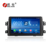 Free shipping 9 auto radio for suzuki sx4 Quadcore Android 4.4 car multimedia with 1 G RAM,16G iNand,steering wheel