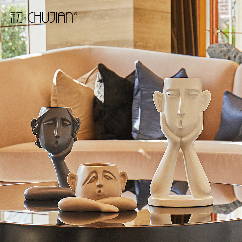 GAOBEI Modern Statues Are Simple And Abstract Figures, Ornaments, Personality Sculptures, Home Decorations,  Porch Furnishings