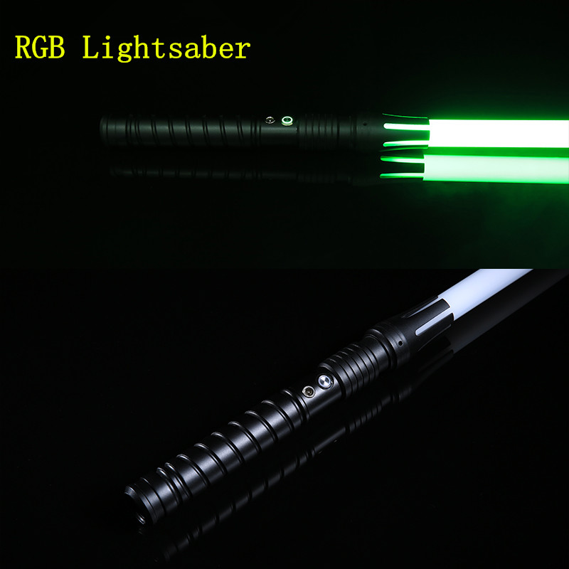 Lightsaber RGB Sword Metal Cosplay Boy Gril Espadaes Wars Toy Laser Flashing Kids Light Saber Flashing LED Toys
