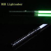 Lightsaber RGB Sword Metal Cosplay Boy Gril Espadaes Wars Toy Laser Flashing Kids Light Saber Flashing LED Toys
