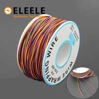 265m One Roll 8 Colors 30AWG Wire Wrapping Tinned Copper Solid PVC insulation Single Strand Copper Cable Ok Electrical Wire 34