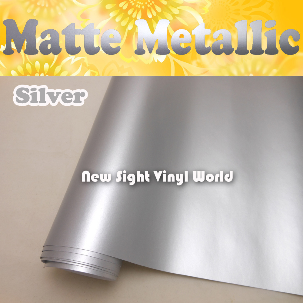 High Quality Matte Satin Metallic Silver Vinyl Silver Satin Metal Wrap Roll Air Free Car Stickers