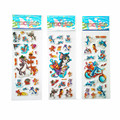 3PCS / lot Mixed Cartoon Bubble Stickers Tom and Jerry Children Kids Boys girls Cartoon Stickers Decoration birthday gift for
