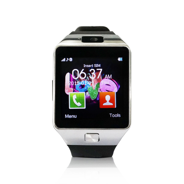 YUNTAB SW01 Bluetooth Smart Watch Fitness Android IOS Phone Camera anti-loss pedometer sleep monitor (silver)