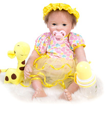 NPK 46CM 3/4 Silicone soft Body Bebe Reborn Doll Lifelike Baby-Reborn Toys For Babies Girls Limited collection toys Brinquedos