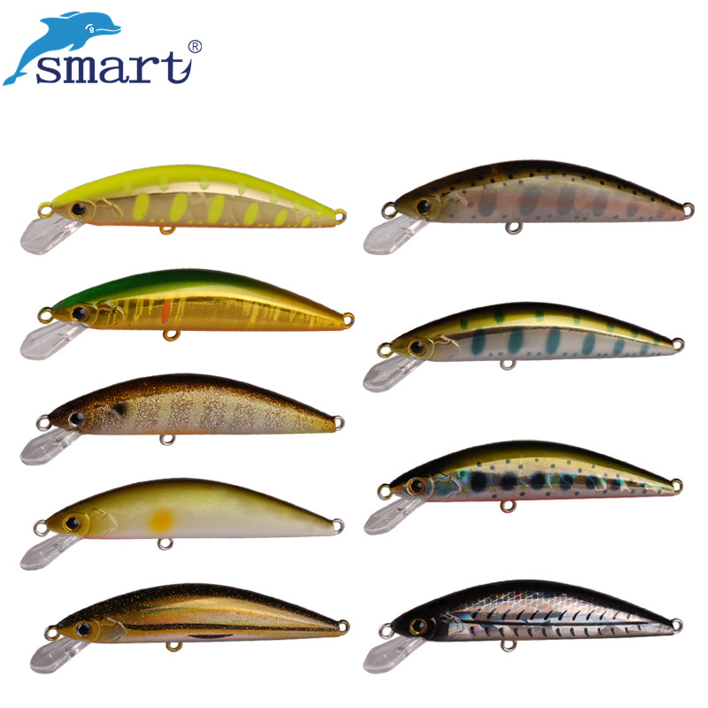 Smart Fishing Lures Minnow Bait 4.5cm 3.7g ჩაძირვა ერთად VMC Hook for Carp Fishing Peche Iscas ხელოვნური Para Pesca