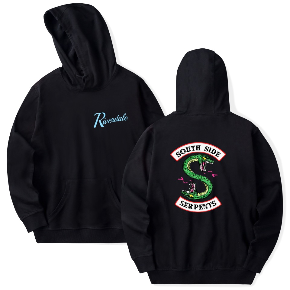 Riverdale Hoodie Sweatshirts Plus Size South Side Serpents Streetwear Tops Spring Hoodies Men Women Hooded Pullover Tracksuit