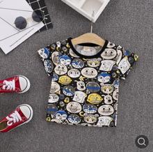 2019 Summer Children Clothing New Style Short Sleeve Fashion Cartoon Baby Boy Girls Tees Toddler Clothes  SY-F192012