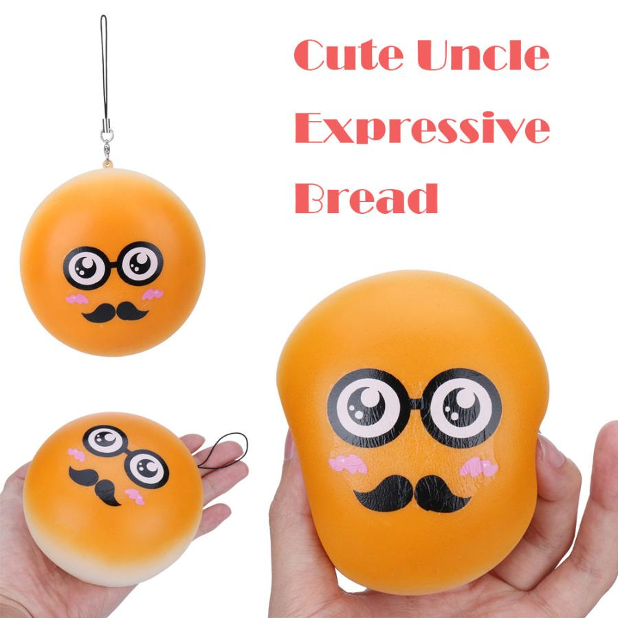 1PC Random Expression Bread Slow Rising Collection Squeeze Stress Reliever Toy Antistress slime Toys anti stress funny prank #15
