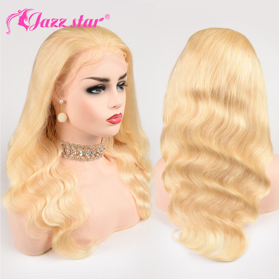 Brazilian Wig 4*4 Body Wave 613 Lace Front Wig Lace Front Human Hair Wigs Pre-Plucked With Baby Hair Jazz Star Non Remy Hair(China)