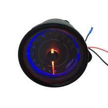 цена на 2 Colors DC 12V Electronic Induction Type LED Backlight Motorcycle Speedometer Meter Counter 13k RPM Shift Tachometer Gauge