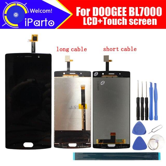 5.5 inç DOOGEE BL7000 LCD ekran + dokunmatik ekranlı sayısallaştırıcı grup 100% orijinal yeni LCD + dokunmatik Digitizer için BL7000 + araçları