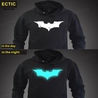 Ectic Batman fashion mens hoodies luminous sportswear male sweatshirt tracksuits hoody clothing man plus size XXL