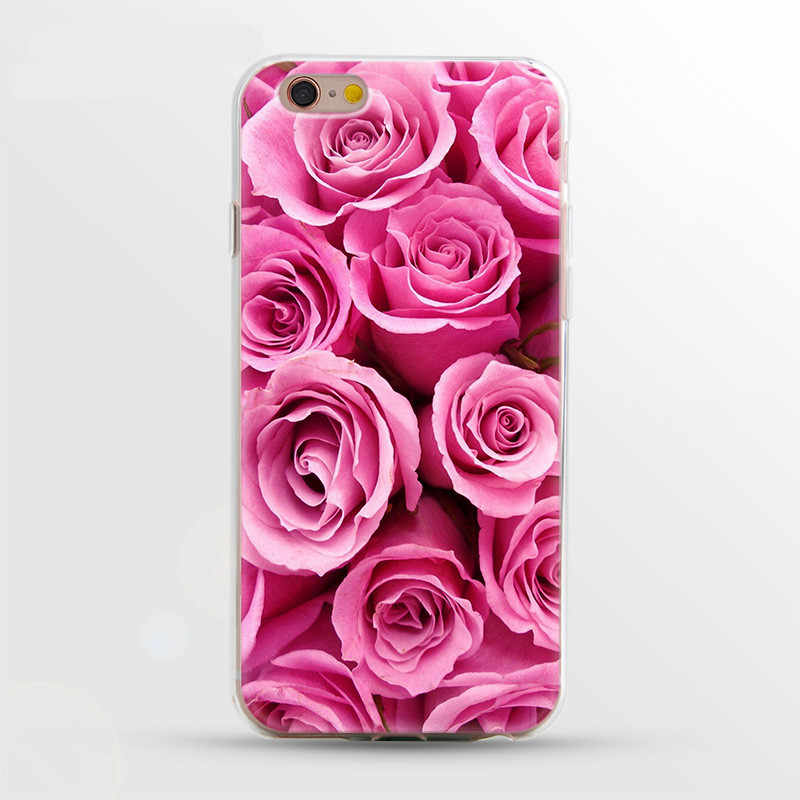עבור carcasa iphone 6 מקורי 360 מקרה פרח רך הסיליקון טלפון מקרים עבור iphone 8 בתוספת 7 בתוספת 6 6s X XS מקרה יוקרה לנשים