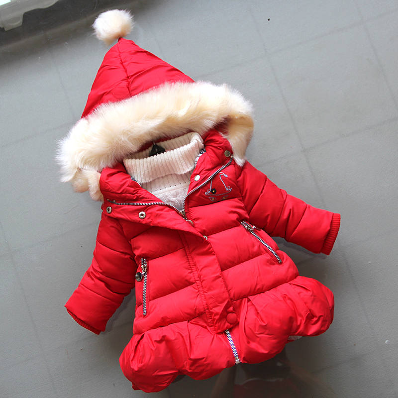 BibiCola girls winter outerwear kids fashion thick warm down parkas for baby girls children clothing winter coats girls jackets girls jackets and coats 2018 new brand outdoor baby windbreaker coats kids warm capes children winter outerwear girls clothing