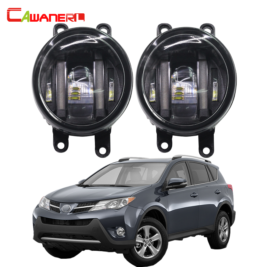 Cawanerl 2 X Car LED Fog Light Daytime Running Lamp DRL 12V White For Toyota RAV4 RAV 4 III 2006-2012 cawanerl 2 x car led fog light drl daytime running lamp accessories for nissan note e11 mpv 2006