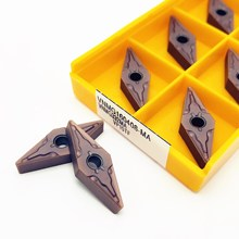 10 pces carboneto ferramenta vnmg160408 ma vp15tf metal fresagem torneamento ferramentas cnc produtos torno ferramenta vnmg 160408 processamento de aço