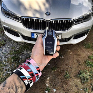 Image 5 - 100pcs M כוח ספורט צמיד עבור BMW מועדון אוהדי Bimmer סיליקון צמיד///M זוהר הולוגרמה גומי צמיד כל סדרת מתנות
