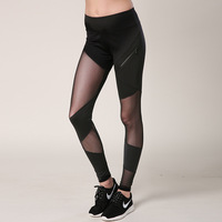 Autumn New Net Yarn Splicing Movement Leggings Women S Quick Drying Sporting Fitness Pants Joggers Push