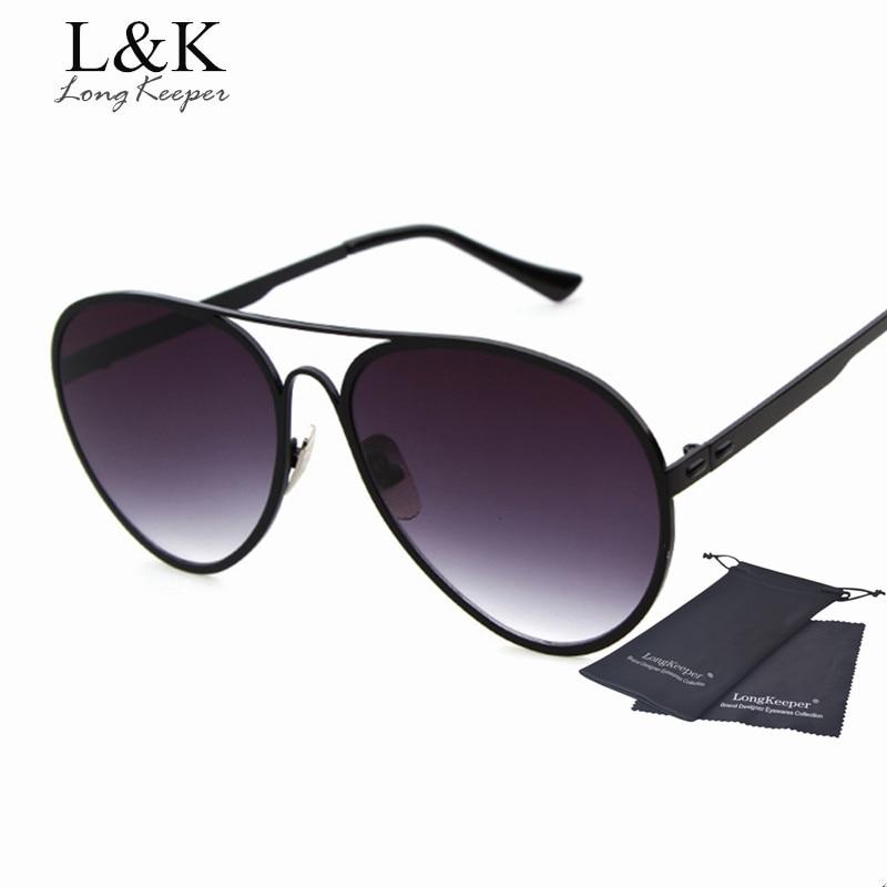 58661a3685 Long Keeper Brand Designer Sunglasses for Women Men Metal Frame Oval Sunglasses  Women Sun Glasses Sexy Cat Eye Eyewares
