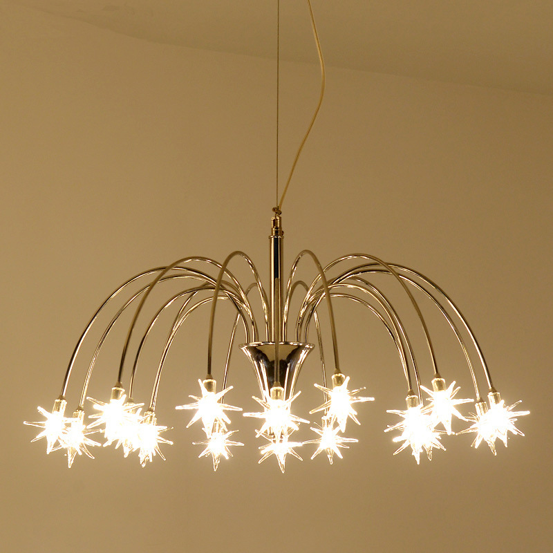 modern led meteor shower star pendant light Restaurant bar coffee shop hanging lamps light zx modern acryl chandelier individuality meteor shower led pendant lamp bar cafe restaurant living room study hanging wire light
