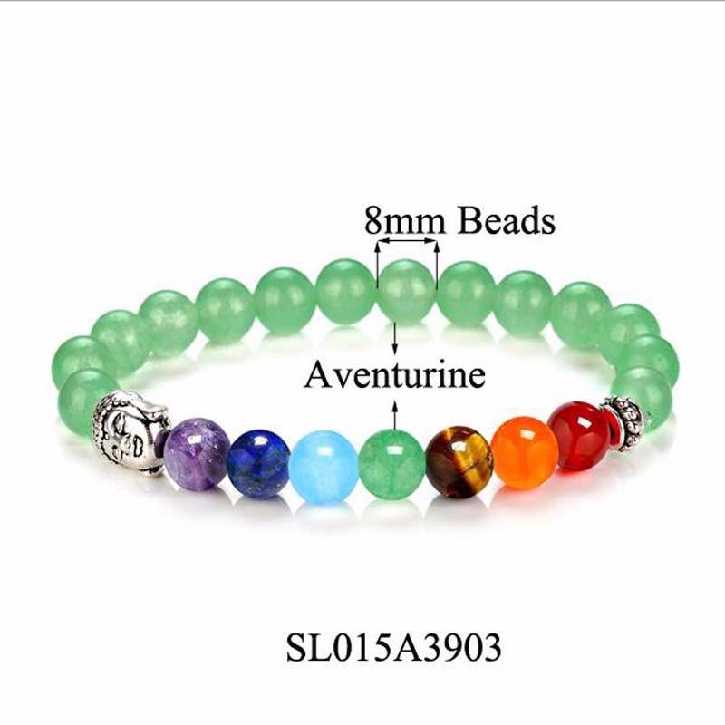 8 Colors 2018 7 Chakra Healing Balance Buddha Beads Bracelets Bangles Charm Natural Stone Bracelet Yoga Jewelry Men Women Gift 8