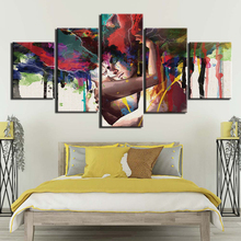 HD Printing Canvas Wall Art 5 Panels Posters Painting Lover couple for Bedroom Home Decor Modular Beautiful Artwork Framework