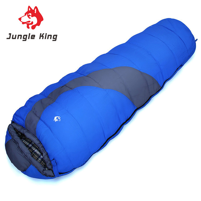 Jungle King Mummy Waterproof Fabric and Cotton Filling Winter Warm Splicing Sleeping Bag Adults 10 Degree