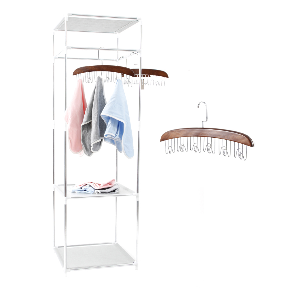 Simple Clothes Coat Rack Bedroom Floor Hanging Clothes Storage Shelves Balcony Multi-functional Drying Racks