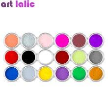 18 цветов, акриловая пудра для украшения ногтей, пудра для дизайна ногтей, блестящая пыль, акриловая УФ-пудра, Пылезащитная скульптура, пигмент
