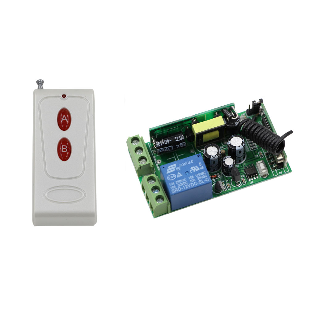 High Quality AC 85V 110V 220V 250V Wireless Remote Control Switch 10A Relay Switch Receiver With Transmitter For Lamp Light LED new design wireless remote control light switch radio 10v 220v 1 channel receiver module white transmitter high quality