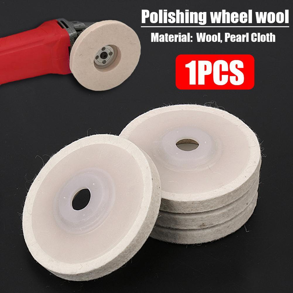 Abrasive Polishing Wheel 4 Inch Wool Felt Polishing Wheel Angle Grinder Disc Rotary Power Tool Accessories 1 Pc
