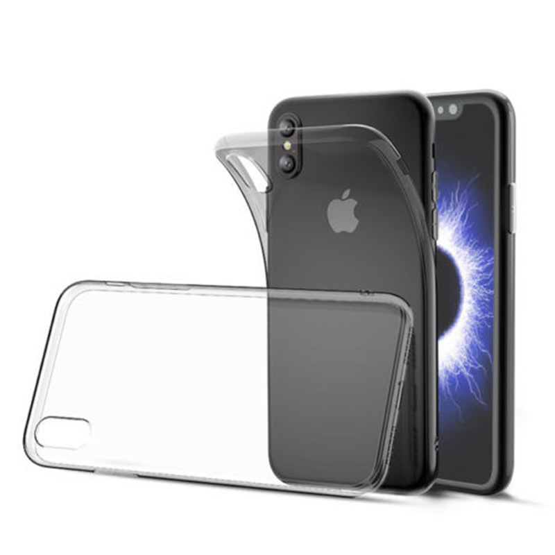 3732cf8ae44 Ultra fino de silicona claro suave TPU Gel transparente cubierta de la caja  del teléfono para el iPhone X 4 4S 5 5S SE 6 6 s más 7 8 más
