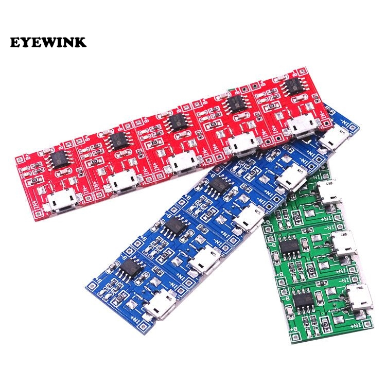 10PCS 5V 1A USB Lithium 18650 Battery Charging Board Module Protection TP4056