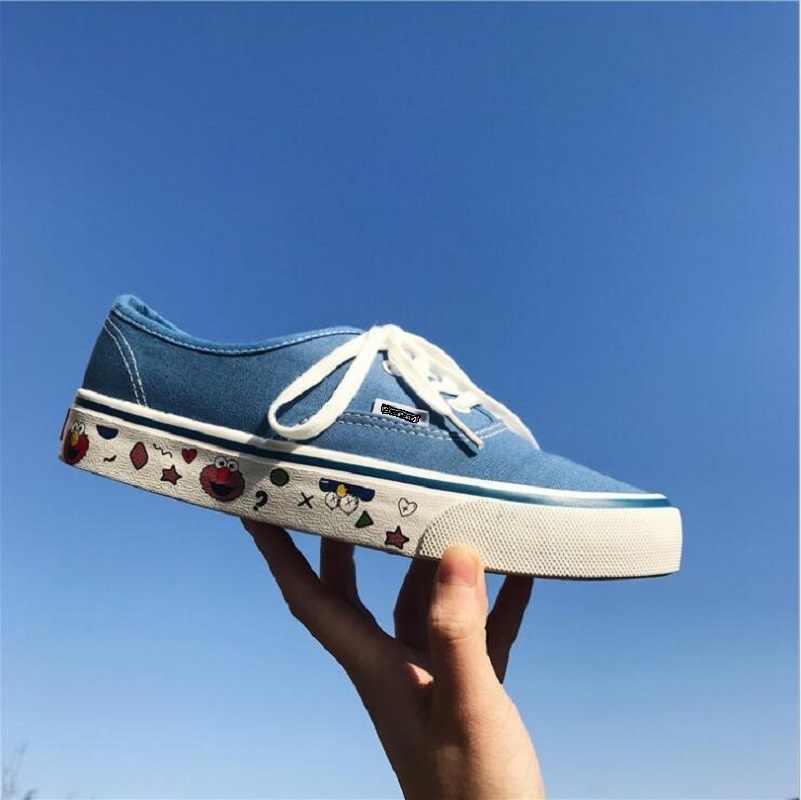 Ulzzang ผู้หญิงรองเท้าแบน Loafers Vulcanize รองเท้าผู้หญิงรองเท้าลำลอง Neutral Classic Designer ยี่ห้อรองเท้าผ้าใบ