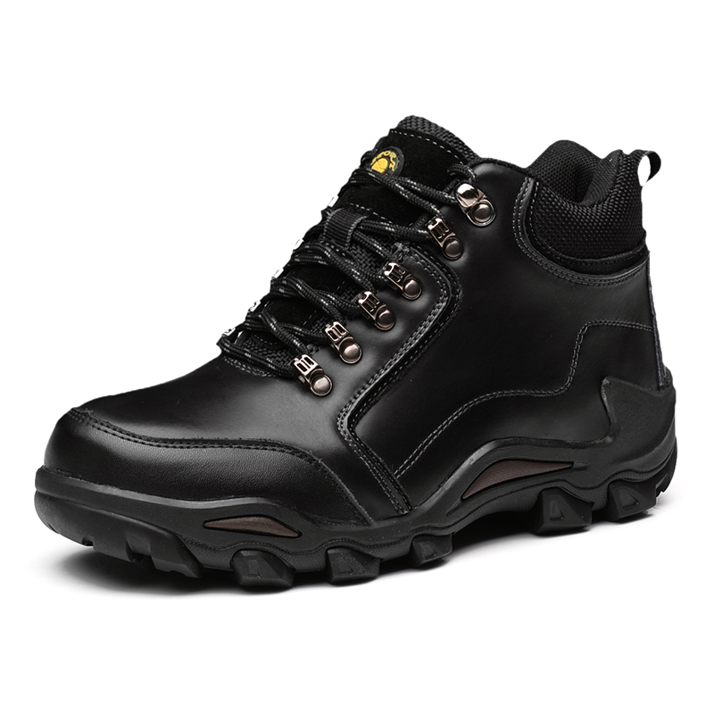 2017 New Winter Mountain Boots Men Black Brown Leather Hiking Boots Lace Up Shoes Climbing Outdoor Sneakers High Top Trainers 2017 tba men s shoes hunting mountain shoes lace up suede leather martin boots breathable outdoor hiking shoes t5983