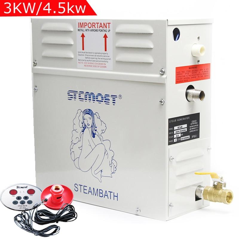 Steam Generator sauna steam Bath Machine 3KW/4.5KW for home sauna room SPA Fumigation Machine 220V/380V with Digital Controller