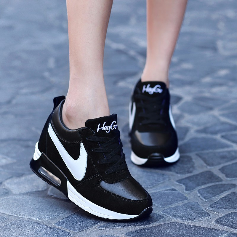 Height Increasing Casual Women Shoes 2016 Fashion Autumn PU Leather High Top Wedges Casual Shoes Lace Up Ladies Shoes YD139 (27)