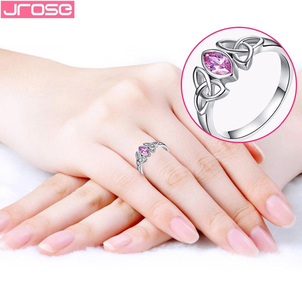 Brand JROSE Engagement Marquise Cut CelticKnot Design Pink CZ ...