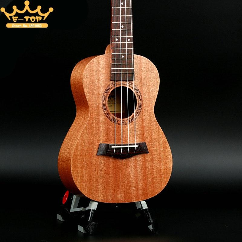 23 four String Guitar Ukulele Wood Hawaiian  Black Mahogany Black edging Christmas Gifts 23 inch green mahogany ukulele hawaiian guitar uke for beginner adult with bag strap tuner strings picks