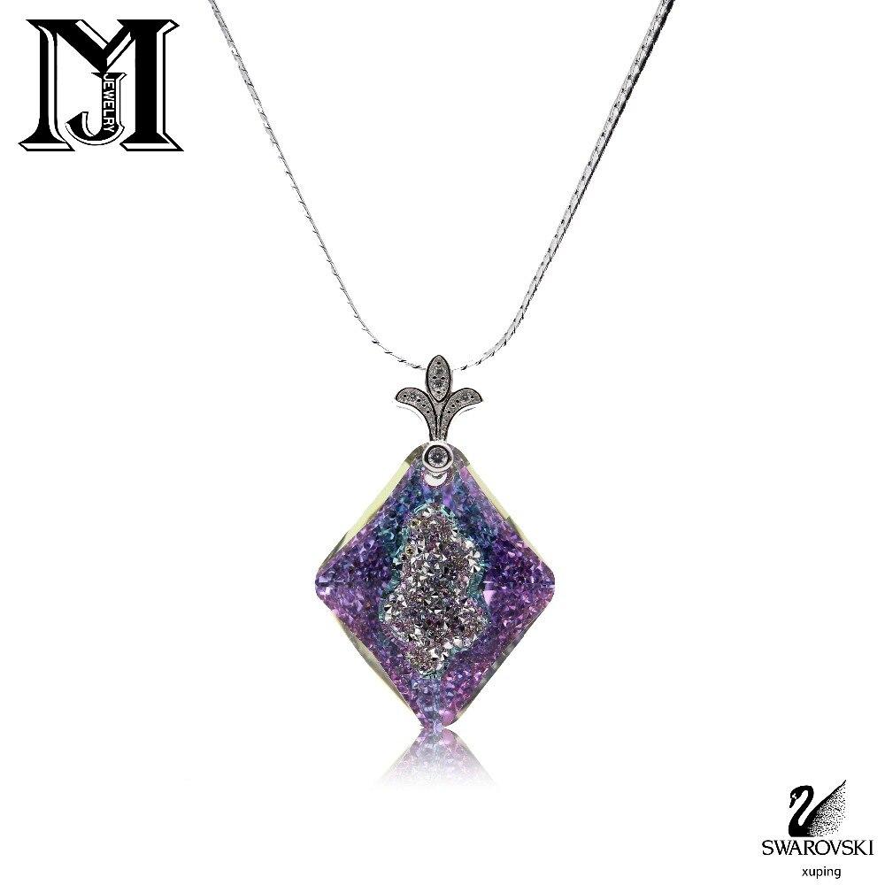 JiaMu hot trendy Swarovski Crystal Pendant Necklaces for wowen's gift wedding party jewelry necklace