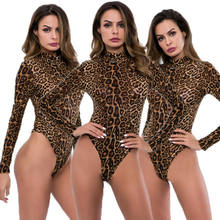 Women's Sexy Long Sleeve Stretch Leotard Bodysuit Jumpsuit Romper Top(China)