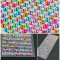 990 Pcs 4mm Strass Diamantes Auto-adesivas Vara Em Cristais Beads Nail Art Car ASSORTED COR