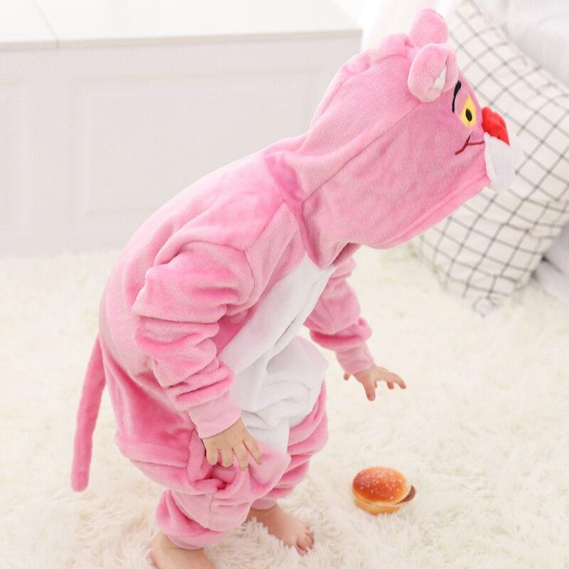 Funny Pink Panther Onesie Kids Kigurumi Pajamas Baby One-Piece Cartoon Animal Pyjamas Cosplay Children Jumpsuit Winter Sleepwear (5)