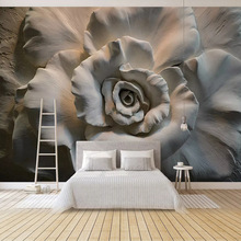 Super 3D Embossed flower wallpaper waterproof canvas Jewelry Bedroom TV background wall living room mural
