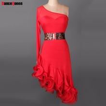 Adult/Child Latin Dance Dresses Purple/Red/Black/Blue Lady/Girls Ballroom Dancing Dresses Cha Cha/Rumba/Samba Dancewear DQ3054
