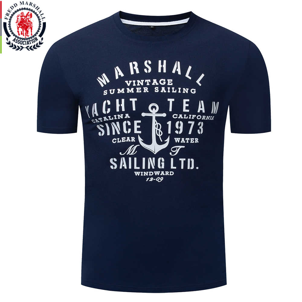 Fredd Marshall 2019 New Fashion Mens Print T Shirt Homme 100% Cotton Letter Tshirt Short Sleeve Casual Summer Cool Tee Shirt 350