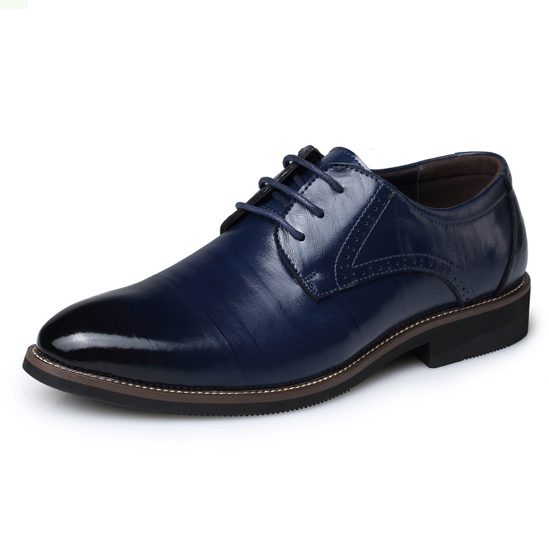 New 2017 Business Dress Men Formal Shoes Wedding Fashion Genuine Leather Shoes Flats Oxford Shoes For Men Pointed Toe hot sale italian style men s flats shoes luxury brand business dress crocodile embossed genuine leather wedding oxford shoes
